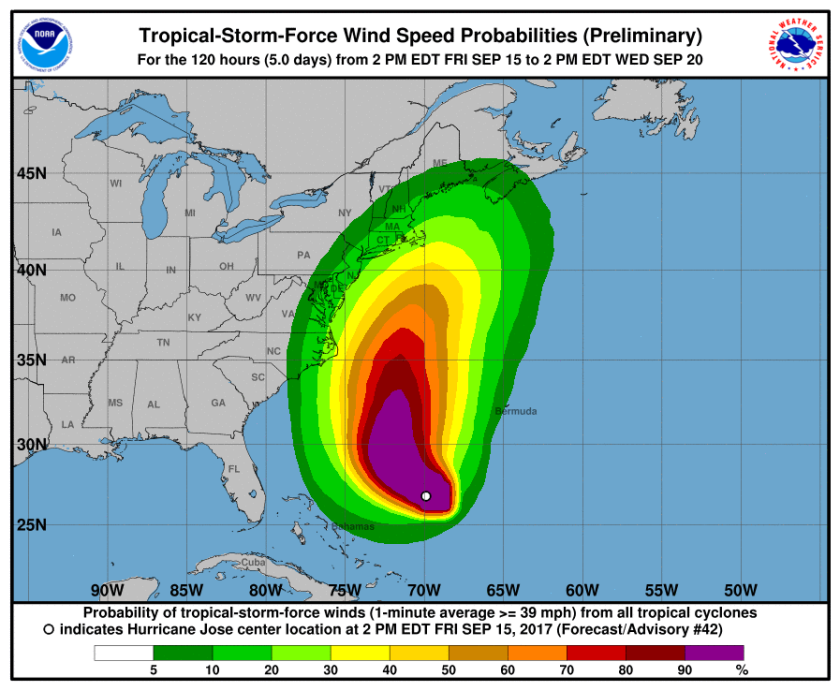 TS force winds probabliity